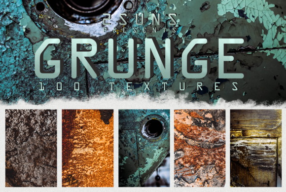 100 Grunge Textures Overlays Graphic Textures By 2SUNS