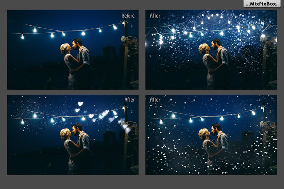 Print on Demand: 100 Silver Lights Photo Overlays Graphic Layer Styles By MixPixBox - Image 2