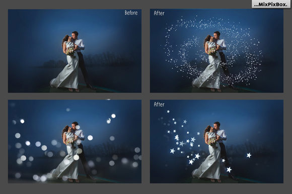 Print on Demand: 100 Silver Lights Photo Overlays Graphic Layer Styles By MixPixBox - Image 4