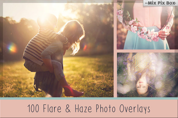 Print on Demand: 100 Sun Flare and Haze Overlays Graphic Layer Styles By MixPixBox