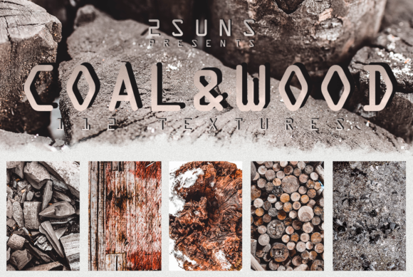 112 Coal and Wood Real Textures Pack Graphic Layer Styles By 2SUNS