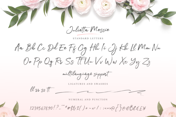 Print on Demand: Julietta Messie Script & Handwritten Font By Ghuroba Studio - Image 2