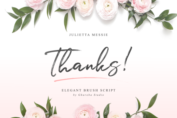 Print on Demand: Julietta Messie Script & Handwritten Font By Ghuroba Studio - Image 13