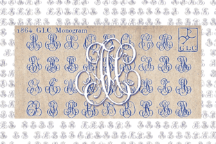 Print on Demand: 1864 GLC Monogram Family Decorative Font By GLC Foundry