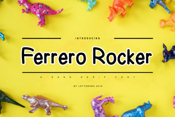 Print on Demand: Ferrero Rocker Family Sans Serif Font By thomasaradea