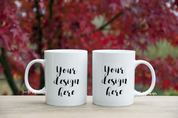 Print on Demand: 2 Coffee Mug Mock Ups Graphic Product Mockups By Leo Flo Mockups