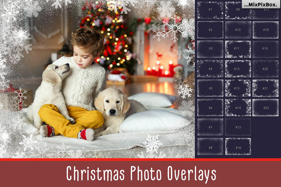 Print on Demand: 20 Christmas Photo Overlays Graphic Layer Styles By MixPixBox