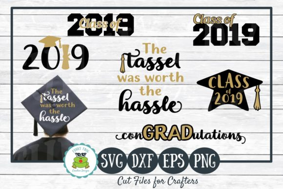 Download Free 2019 Graduation Bundle Graphic By Funkyfrogcreativedesigns for Cricut Explore, Silhouette and other cutting machines.
