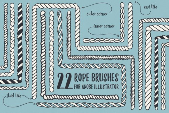 22 Vector Rope Brushes Graphic Brushes By Anastasiia Macaluso
