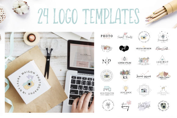 24 Logo Templates for Photographers Graphic By switzershop