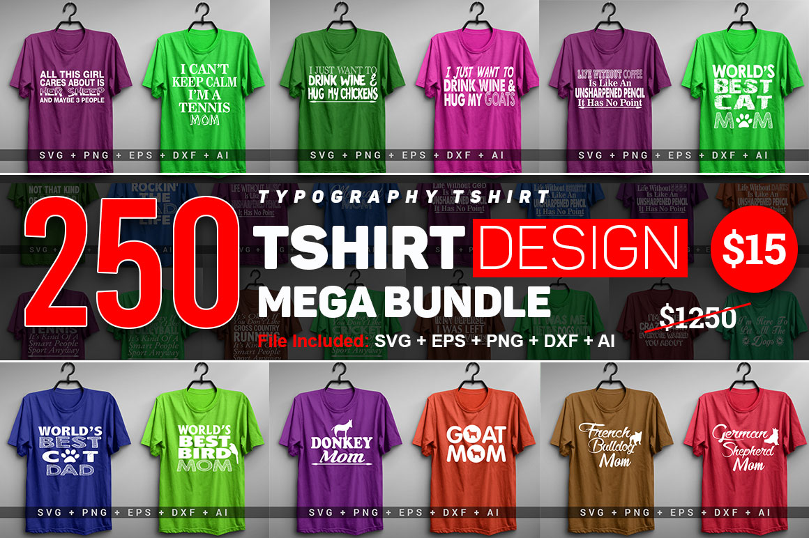 Download Free 250 Funny T Shirt Typography Graphic By Subornastudio Creative for Cricut Explore, Silhouette and other cutting machines.