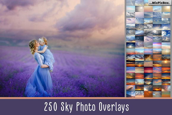 Print on Demand: 250 Sky Photo Overlays Graphic Layer Styles By MixPixBox