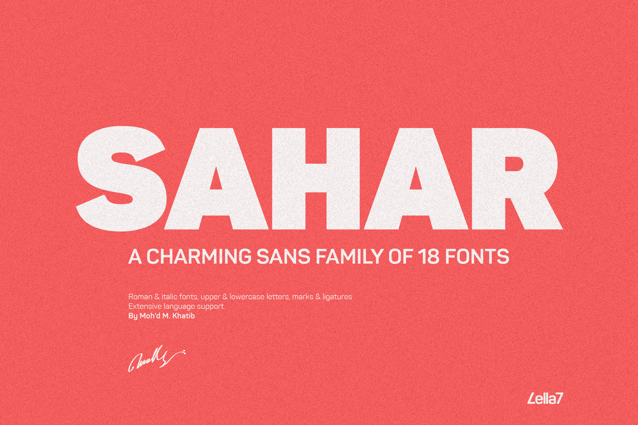 Download Free Sahar Font By Mokhatib Creative Fabrica for Cricut Explore, Silhouette and other cutting machines.