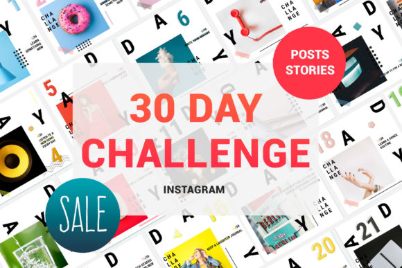 30 Day Challenge Instagram Pack Graphic By Awesome Templates Image 5
