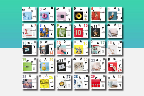 30 Day Challenge Instagram Pack Graphic By Awesome Templates Image 6