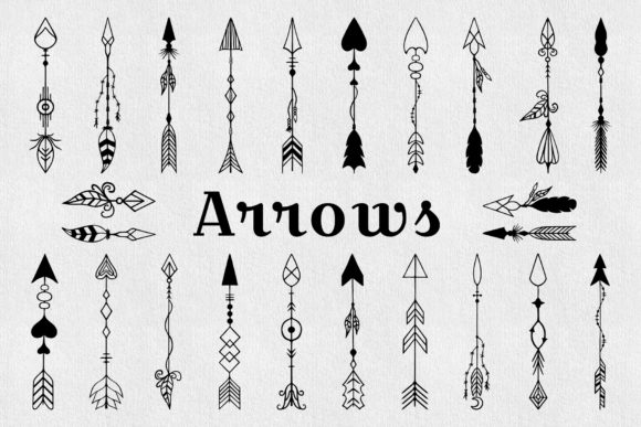 45 Hand Drawn Tribal Arrows and Boho Frames. Graphic Illustrations By Kirill's Workshop - Image 2