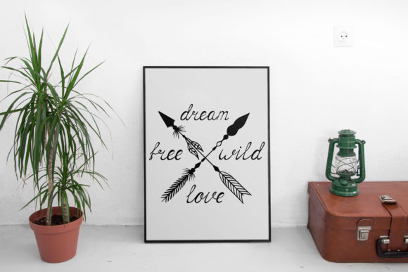 45 Hand Drawn Tribal Arrows and Boho Frames.