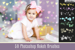 Print on Demand: 50 Bokeh Photoshop Brushes Graphic Brushes By MixPixBox
