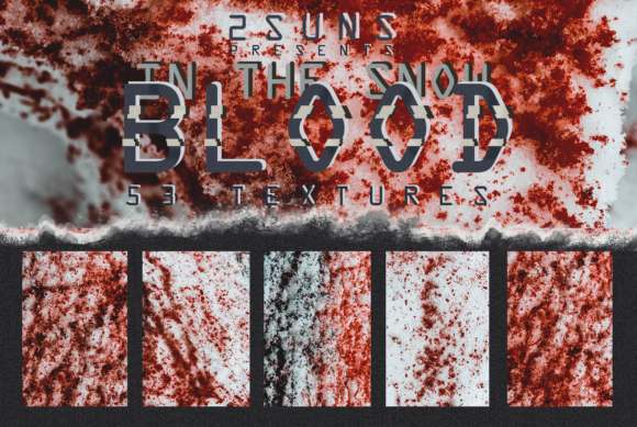 53 Textures Pack Blood in the Snow Graphic Textures By 2SUNS