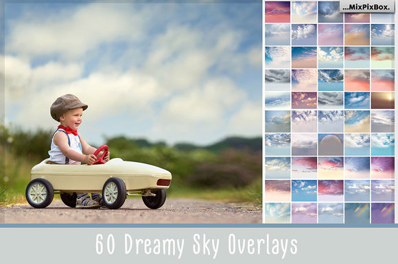 Print on Demand: 60 Dreamy Sky Photo Overlays Graphic Layer Styles By MixPixBox
