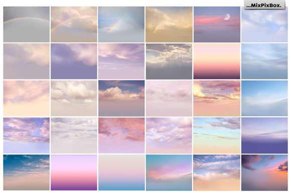 Print on Demand: 60 Romantic Sky Overlays Graphic Layer Styles By MixPixBox - Image 3