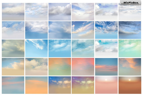 Print on Demand: 60 Romantic Sky Overlays Graphic Layer Styles By MixPixBox - Image 4