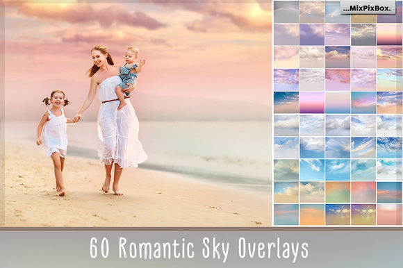 Print on Demand: 60 Romantic Sky Overlays Graphic Layer Styles By MixPixBox