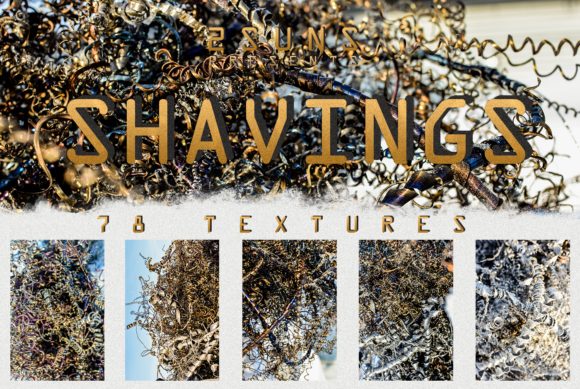78 Silver Spirals of Metal Shaving Textures Graphic Layer Styles By 2SUNS