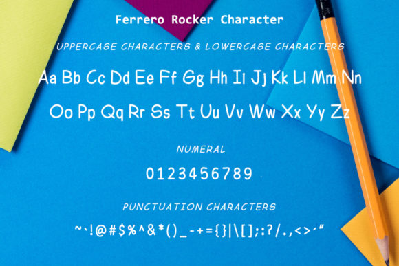 Print on Demand: Ferrero Rocker Family Sans Serif Font By thomasaradea - Image 7