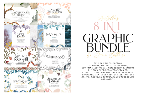 8 in 1 Graphic Bundle Graphic Illustrations By BilberryCreate