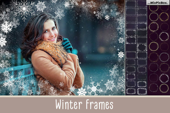 Print on Demand: A Big Set of Winter Frames Graphic Layer Styles By MixPixBox