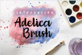 Adelica Brush Font By JavaPep