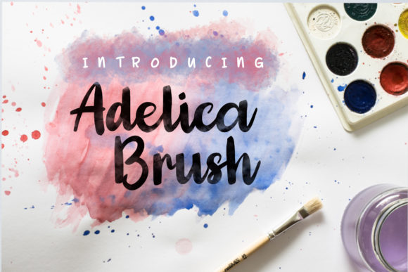 Print on Demand: Adelica Brush Script & Handwritten Font By JavaPep - Image 1