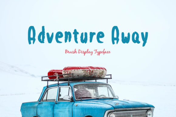 Print on Demand: Adventure Away Display Font By Spanking Fonts