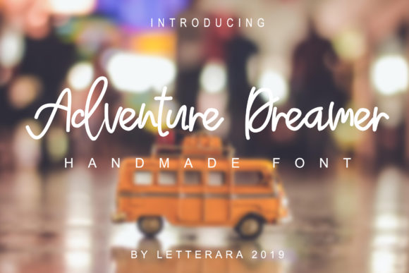 Print on Demand: Adventure Dreamer Family Script & Handwritten Font By thomasaradea