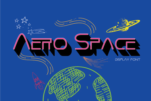 Print on Demand: Aero Space Display Font By Gumacreative