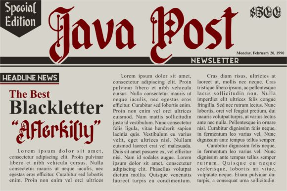 Print on Demand: Afterkilly Blackletter Font By Garisman Studio - Image 2