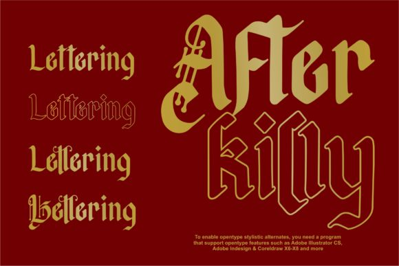 Print on Demand: Afterkilly Blackletter Font By Garisman Studio - Image 3