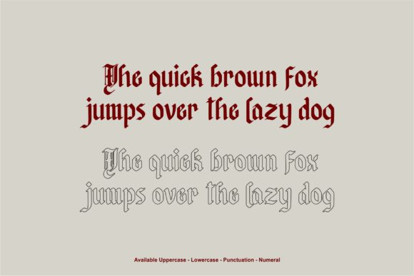 Print on Demand: Afterkilly Blackletter Font By Garisman Studio - Image 4