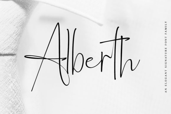 Print on Demand: Alberth Family Script & Handwritten Font By Letteratom