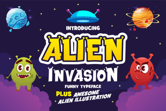 Print on Demand: Alien Invasion Display Font By fachranheit
