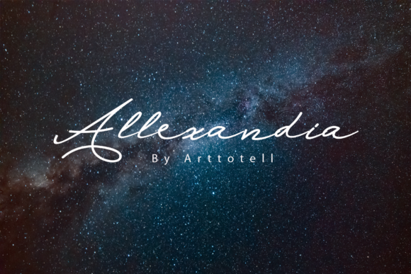 Print on Demand: Allexandia Script & Handwritten Font By arttotell