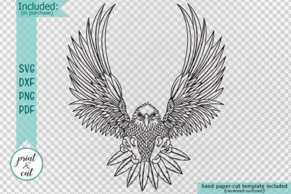 Download Free American Eagle Graphic By Cornelia Creative Fabrica for Cricut Explore, Silhouette and other cutting machines.