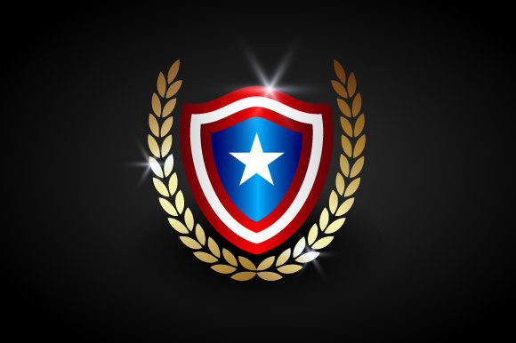 Download Free American Shield Vector Template Graphic By Hartgraphic SVG Cut Files