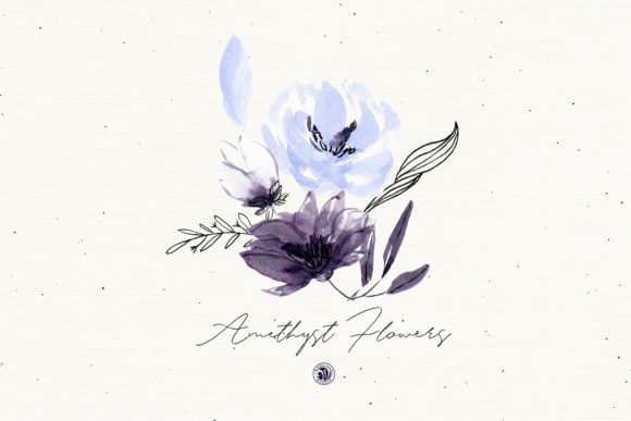 Amethyst Flowers Graphic Illustrations By webvilla - Image 2