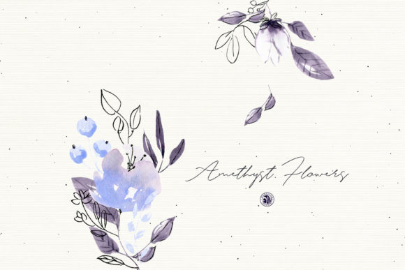 Amethyst Flowers Graphic Illustrations By webvilla - Image 3