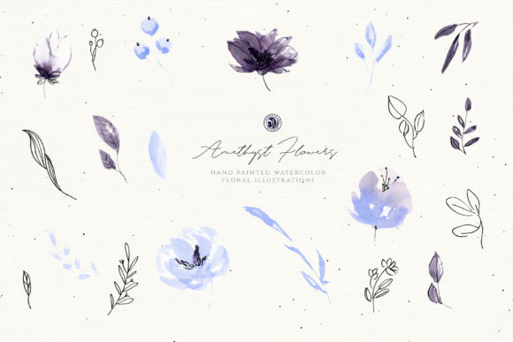 Amethyst Flowers Graphic Illustrations By webvilla - Image 5