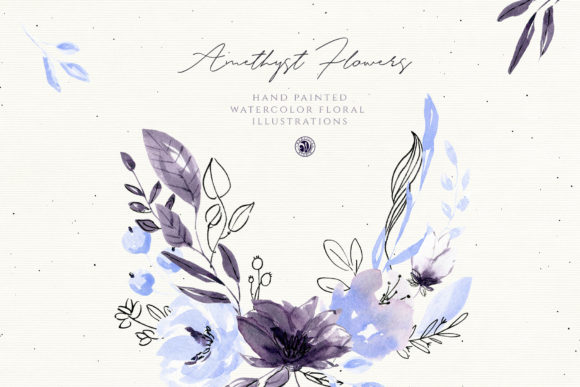 Amethyst Flowers Graphic Illustrations By webvilla