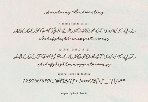 Print on Demand: Amstrong Duo Script & Handwritten Font By rudhisasmito - Image 2