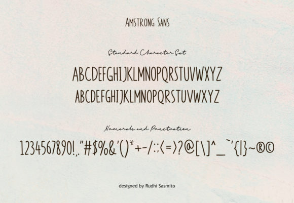 Print on Demand: Amstrong Duo Script & Handwritten Font By rudhisasmito - Image 3